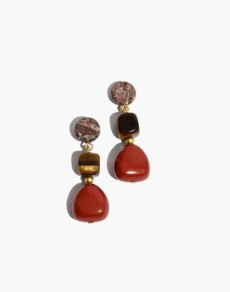 Madewell Stacked Stones Statement Earrings
