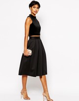Asos Midi Skirt in Scuba