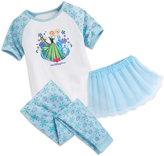 Disney Anna and Elsa Three-Piece Pajama Set for Girls - Walt World