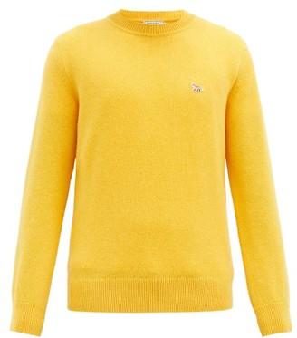 MAISON KITSUNÉ Profile Fox-patch Wool Sweater - Yellow