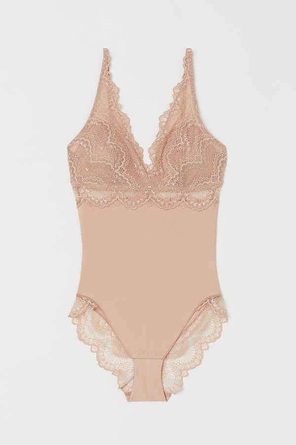 Thumbnail for your product : H&M Light shaping lace body