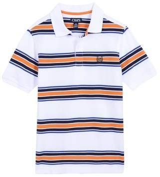 Chaps Short Sleeve Pique Yarn Dyed Stripe Polo (Little Boys)