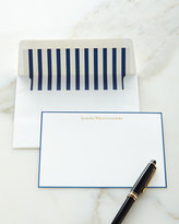 Boatman Geller Correspondence Cards Hand Bordered in Navy with Plain Envelopes