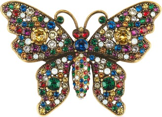 Gucci Crystal studded butterfly brooch