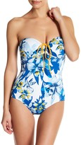 Tommy Bahama Fall Floral Bandeau One-Piece Swimsuit