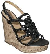 Mia 2 Women's Circe Strappy Wedge Sandal - Black