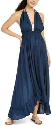 Raviya Ruffled Halter Cover-Up Maxi Dress Women Swimsuit