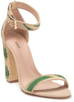 Schutz Polyanna Palm Embroidered Sandal