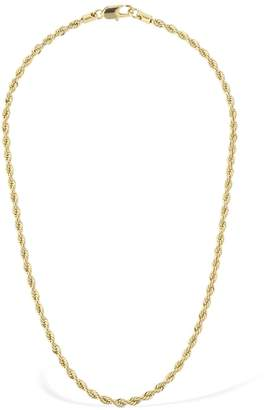 Laura Lombardi 14kt Gold Plated Rope Chain Necklace