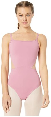 Bloch Embroidered Mesh Camisole Leotard (Dusty Rose) Women's Jumpsuit & Rompers One Piece