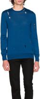 Alexander McQueen Long Sleeve Crew Neck Sweater