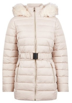 Dorothy Perkins Womens Champagne Jaquard Short Padded Coat, Champagne
