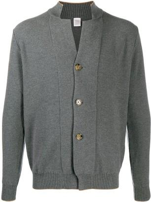Eleventy Rib-Trimmed Wool Cardigan