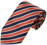 DAA7A11A Dark Brown Stripes Microfiber Neckwear Presents For Store Tie By Dan Smith