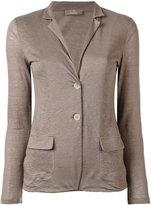Cruciani blazer style cardigan - women - Linen/Flax - 42
