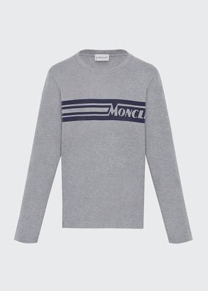 Moncler Girl's Colorblock Long-Sleeve T-Shirt, Size 4-6