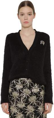 Rochas Embellished Mohair Blend Knit Cardigan