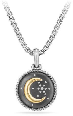 David Yurman Moon & Star Two-Tone Diamond Amulet