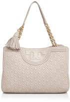 Tory Burch Fleming Open Leather Tote
