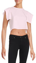 KENDALL + KYLIE Flutter Sleeve Crop Top