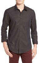Ben Sherman Extra Slim Fit Herringbone Spot Woven Shirt