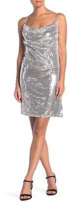 KENDALL + KYLIE Sequin Tie Back Mini Dress