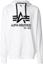 Alpha Industries printed logo hoodie