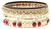 Charlotte Russe Etched & Jeweled Bangle Bracelets - 6 Pack