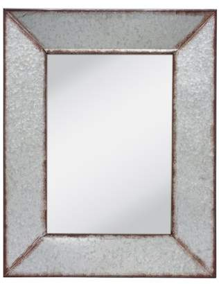 Stonebriar Collection Stonebriar Rustic Rectangular Galvanized Metal Frame Hanging Wall Mirror