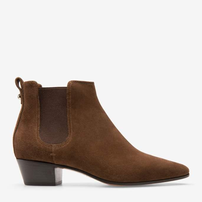 Bally Theresia Brown, Women's calf leather ankle boots with 35mm heel in coconut
