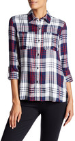 Jessica Simpson Dion Plaid Roll Sleeve Shirt