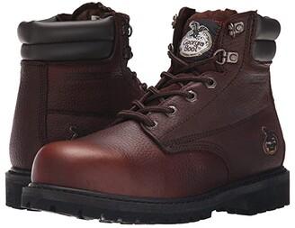 Georgia Boot Oiler 6 Steel Toe Waterproof (Dark Brown) Men's Work Boots