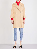Sandro Double-breasted cotton-twill trench coat