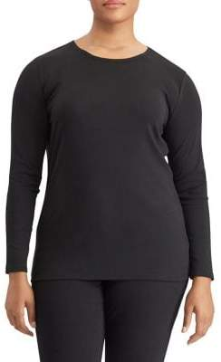 Lauren Ralph Lauren Plus Long-Sleeve Stretch Tee