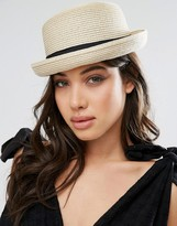 Glamorous Bowler Straw Hat
