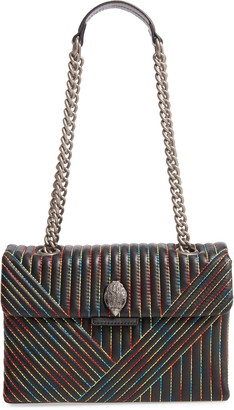 Kurt Geiger 690 Kensington Rainbow Stitch Leather Shoulder Bag