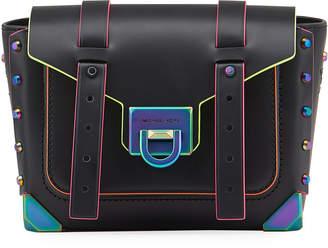 MICHAEL Michael Kors Manhattan Small Messenger Bag with Neon Contrast