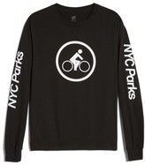 Hanes Men's Nyc Parks Bike Rider Long Sleeve T-Shirt