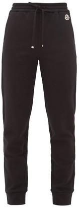 Moncler Logo-applique Cotton-blend Track Pants - Womens - Black