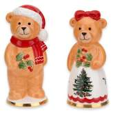 Spode Christmas Tree Teddy Bear Salt and Pepper Shakers