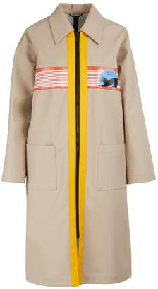 Miu Miu Miu patch trench coat