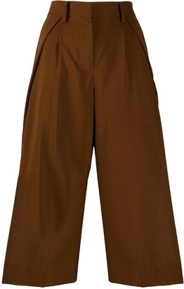 Sacai Cropped Wide Leg Trousers