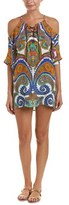 Trina Turk Pacific Paisley Off-the-shoulder Tunic Cover-up.