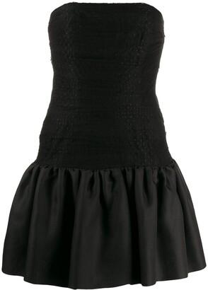 Yves Saint Laurent Pre Owned 1980's Tulle Panel Strapless Dress
