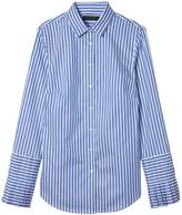 Banana Republic Petite Riley Tailored-Fit Stripe Super-Stretch Pleated-Sleeve Shirt