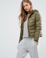 Pull&Bear Quilted Jacket With Hood