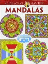 Dover Creative Haven MANDALAS Coloring Book: Deluxe Edition 4 books in 1
