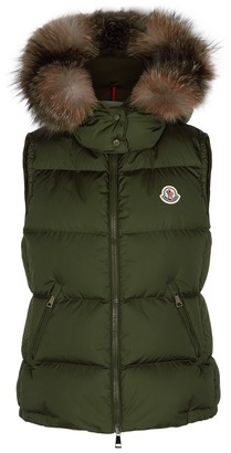 Moncler Gallinule Green Quilted Shell Gilet