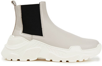 Tibi Leather Chelsea Boots