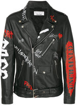 Faith Connexion printed punk jacket